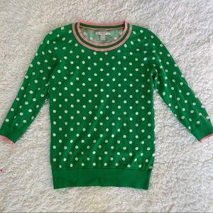 JCrew polka dot sweater